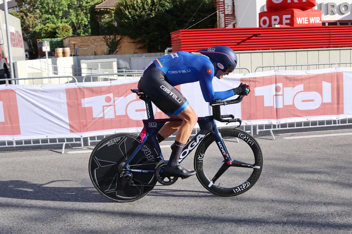 Edoardo Affini in azione ad Innsbruck 2018