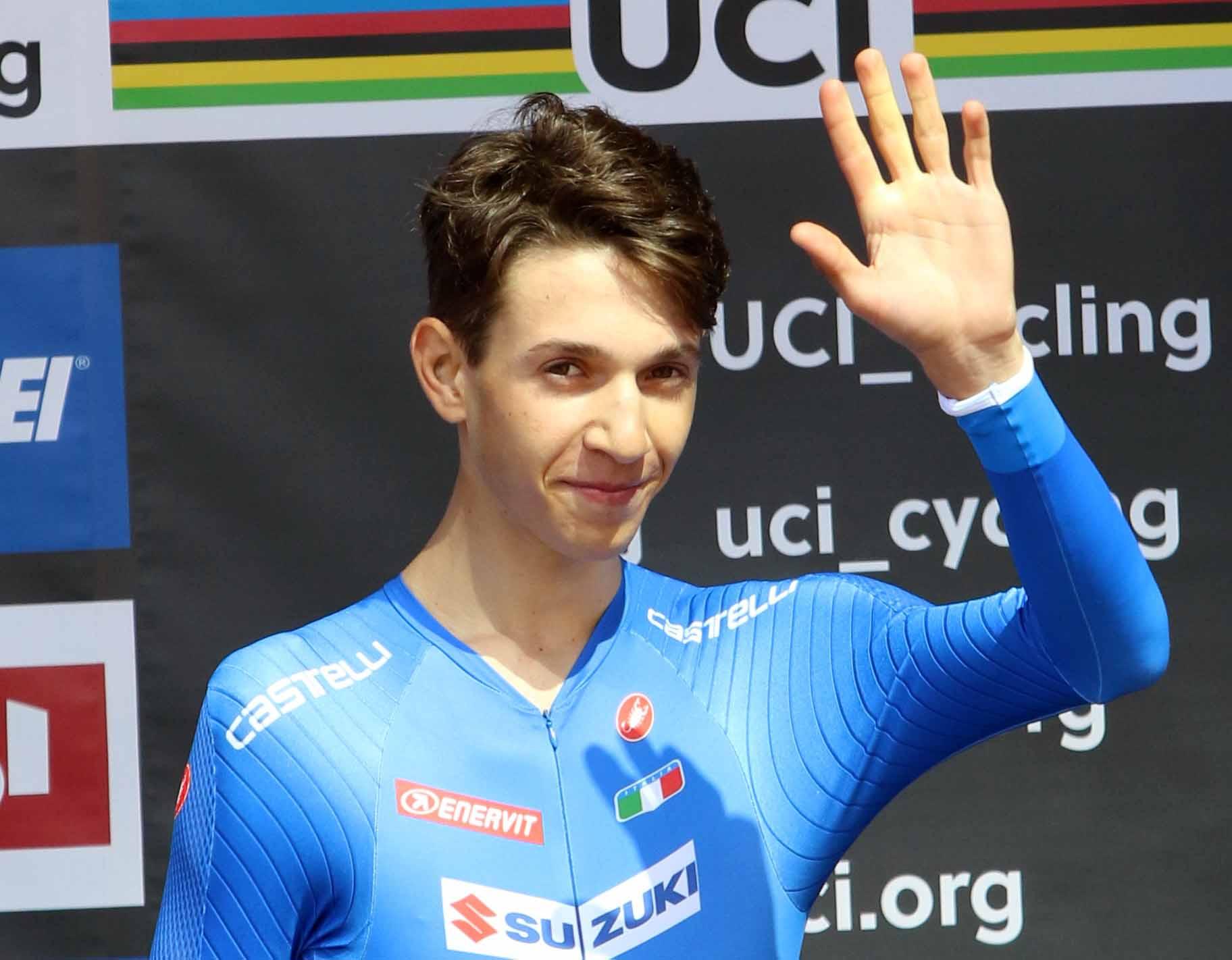 Andrea Piccolo regala all'Italia la medaglia di bronzo ai Mondiali cronometro Juniores