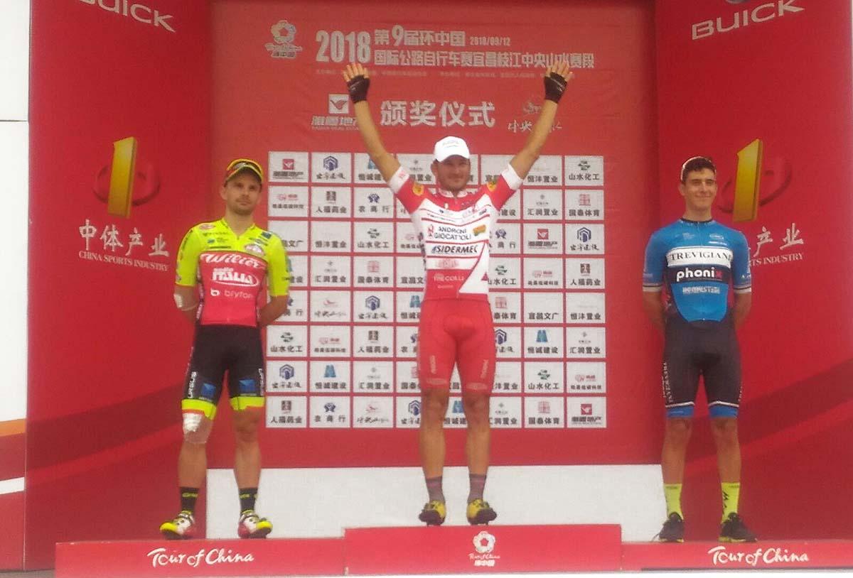 Marco Benfatto vince la quinta tappa del Tour of China I