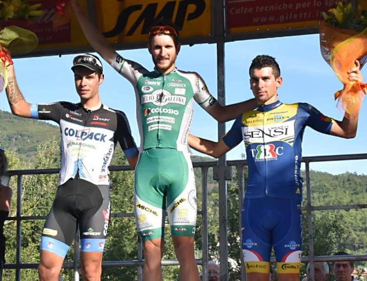 Il podio della 78/a Coppa Ciuffenna