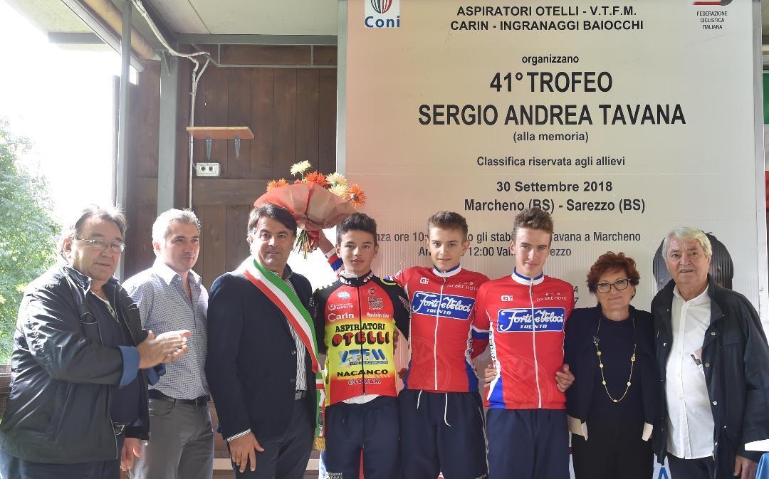 Il podio della Marcheno Sarezzo 2018
