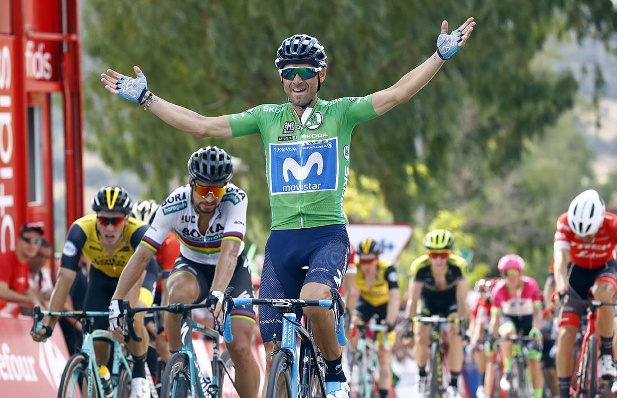 Alejandro Valverde vince l'ottava tappa della Vuelta a Espana