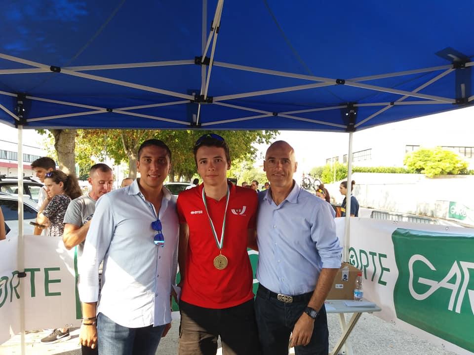 Pietro Aimonetto vincitore della cronometro Juniores di Camerata Picena