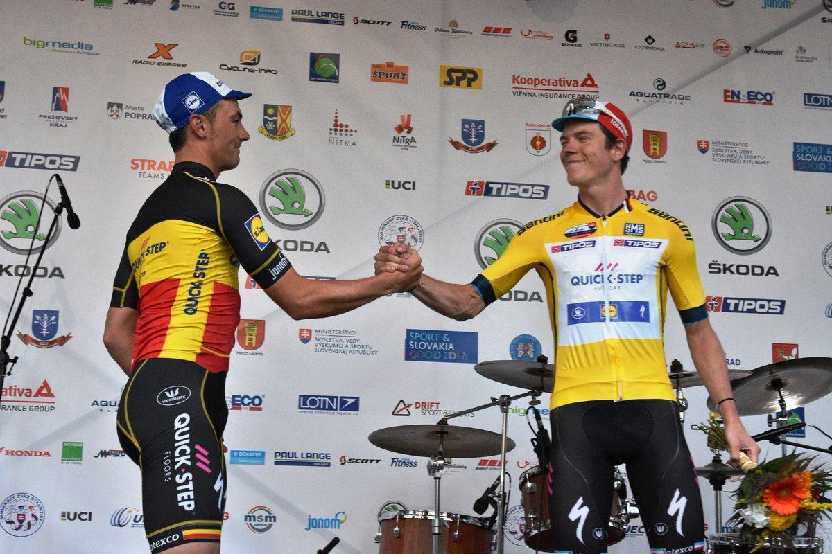 compagno Yves Lampaert, primo e secondo nel prologo del Tour de Slovaquie