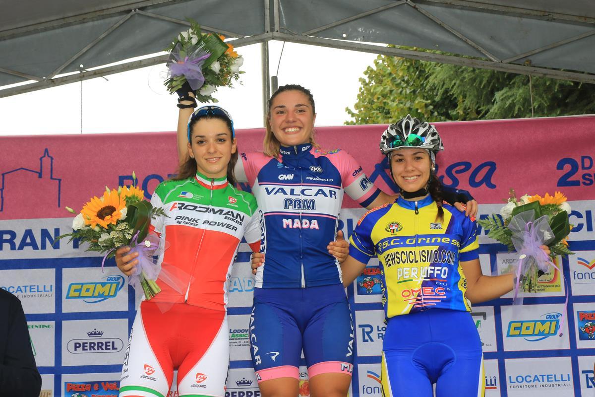 Il podio Donne Allieve di Bottanuco