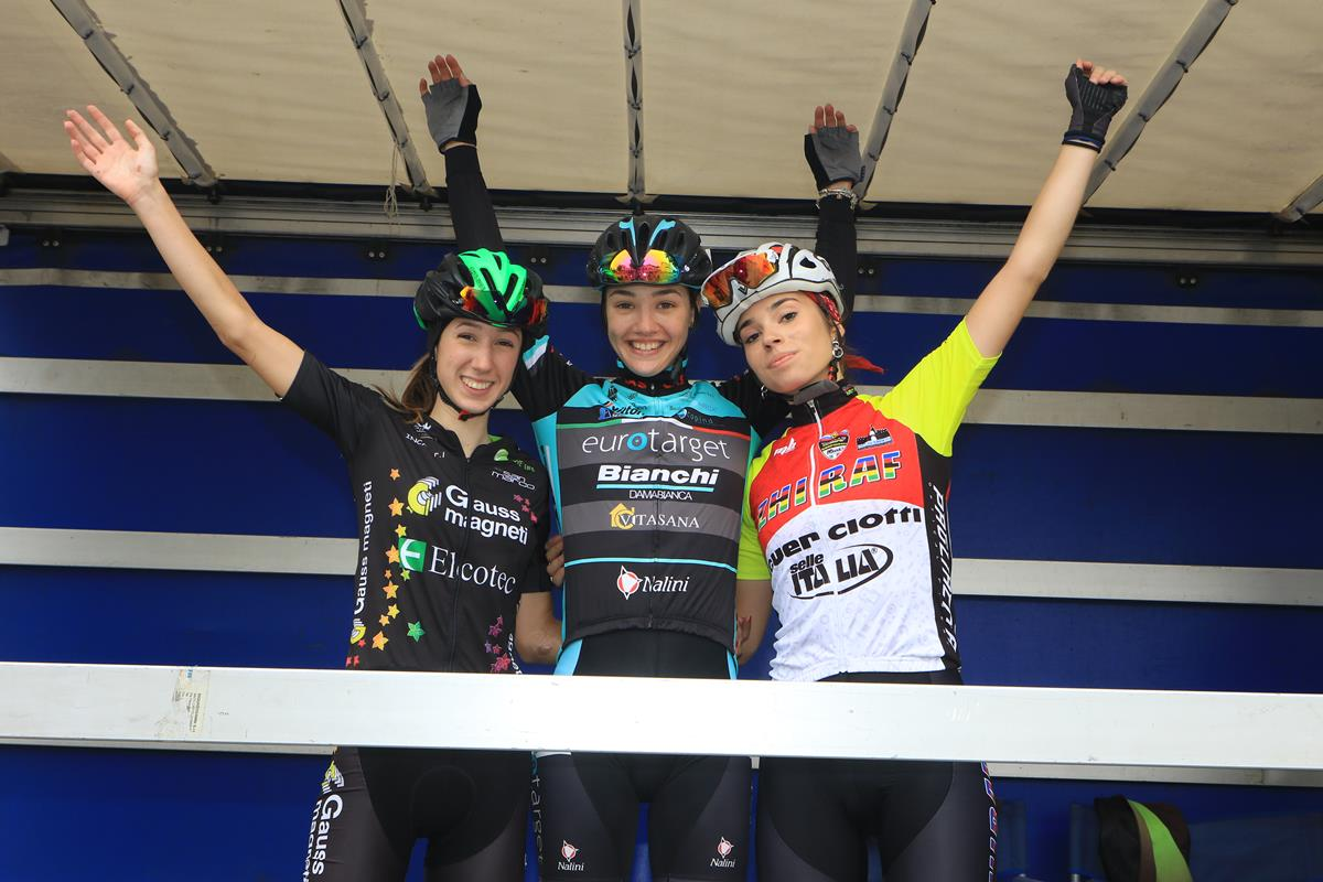 Il poIl podio della gara Donne Junior 2018 a Montecchio Precalcino dio della gara Donne Open 2018 a Montecchio Precalcino