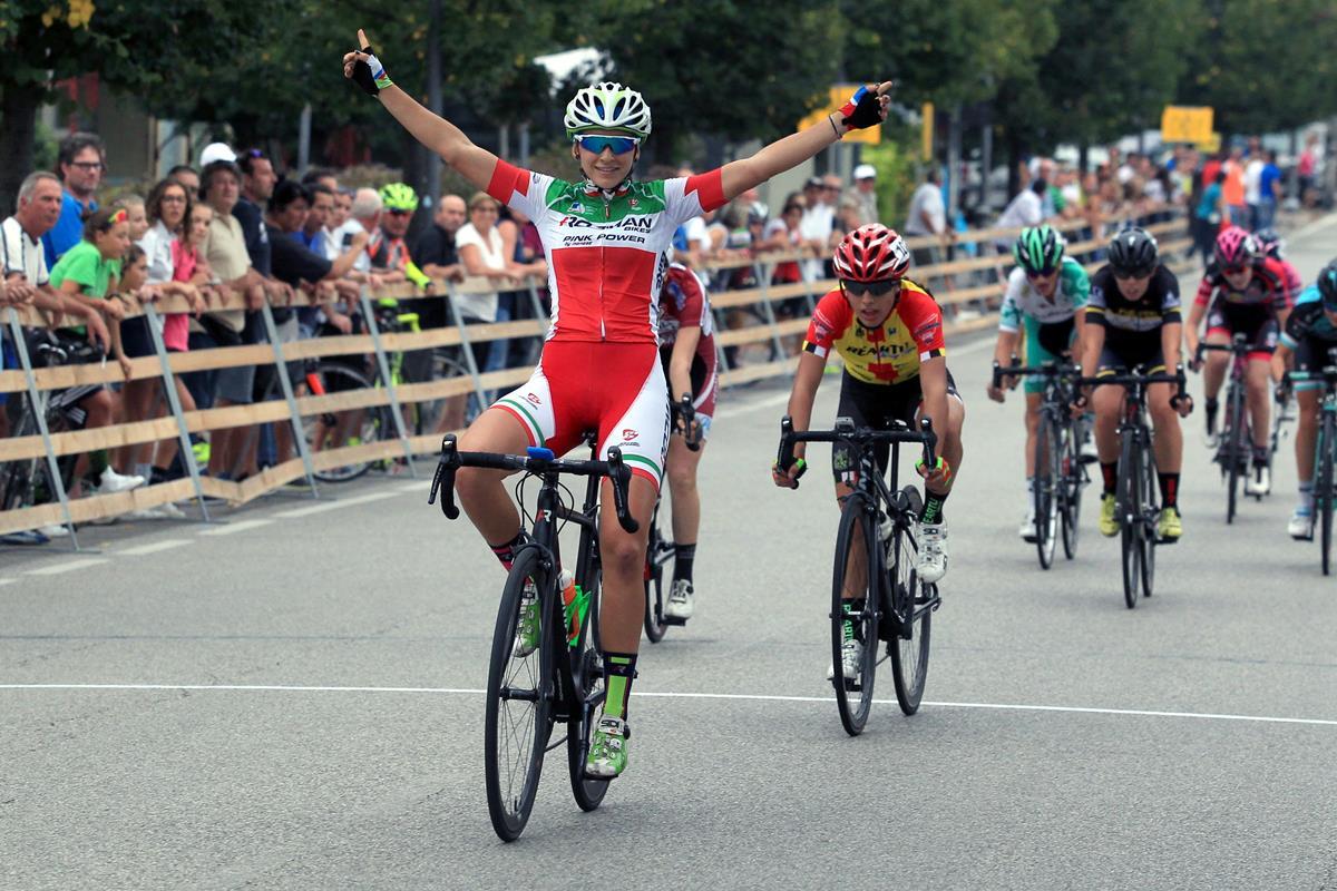 Eleonora Gasparrini vince in maglia tricolore a Montecchio Precalcino