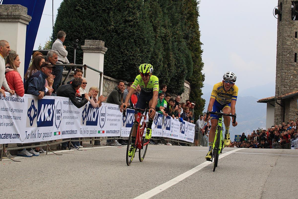 Antonio Tiberi anticipa Alessandro Fancellu al Ghisallo