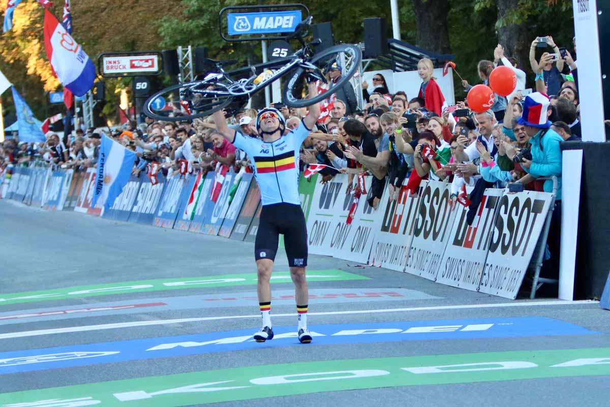 Remco Evenepoel vince la prova in linea dei Mondiali Juniores Innsbruck 2018