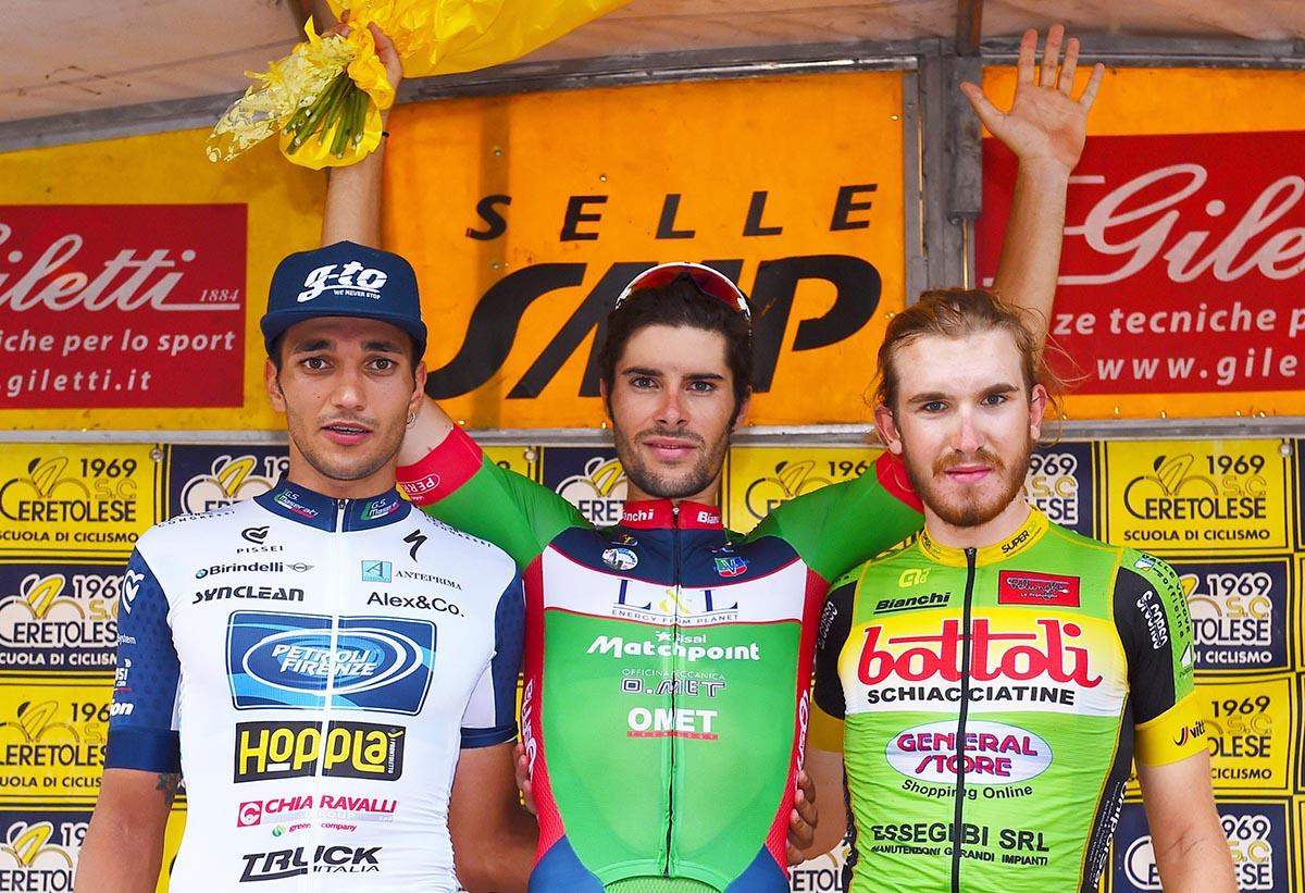 Il podio del Piccolo Giro dell'Emilia 2018