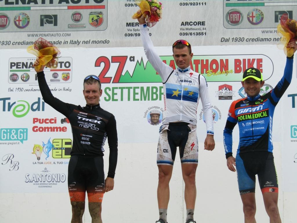 Il podio della Marathon Bike della Brianza 2018