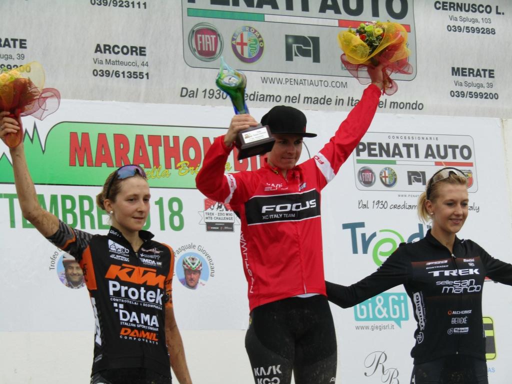 Il podio femminile della Marathon Bike della Brianza 2018