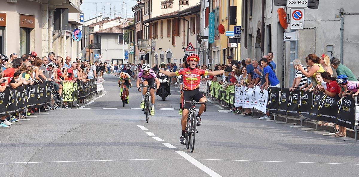 La vittoria di Andrea Tortella nella gara Esordienti 1° anno di Ghedi