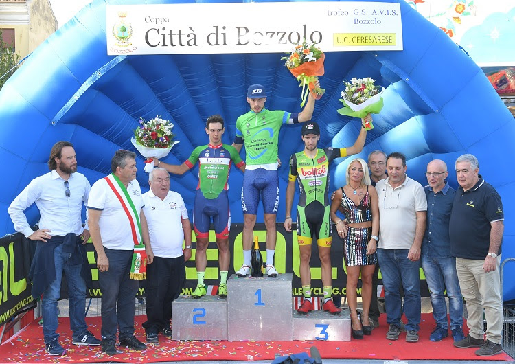 Il podio della Coppa Città di Bozzolo