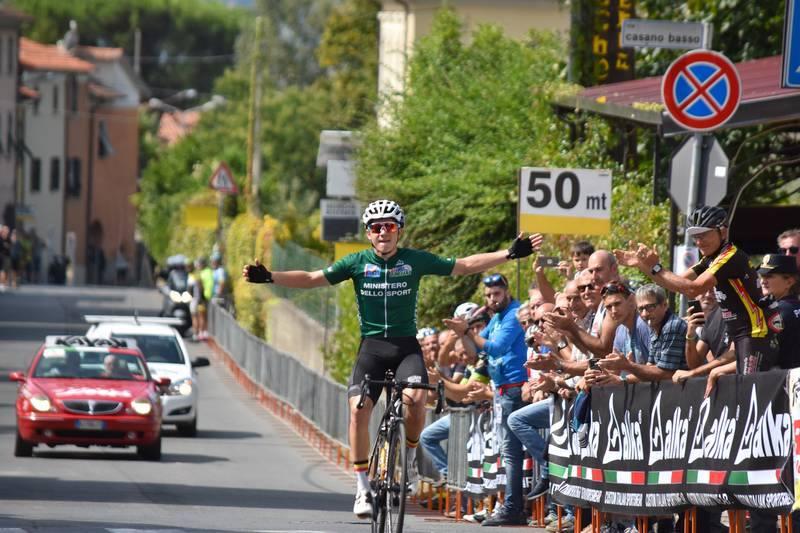 Remco Evenepoel vince anche l'ultima tappa e la classifica finale del Giro della Lunigiana 2018