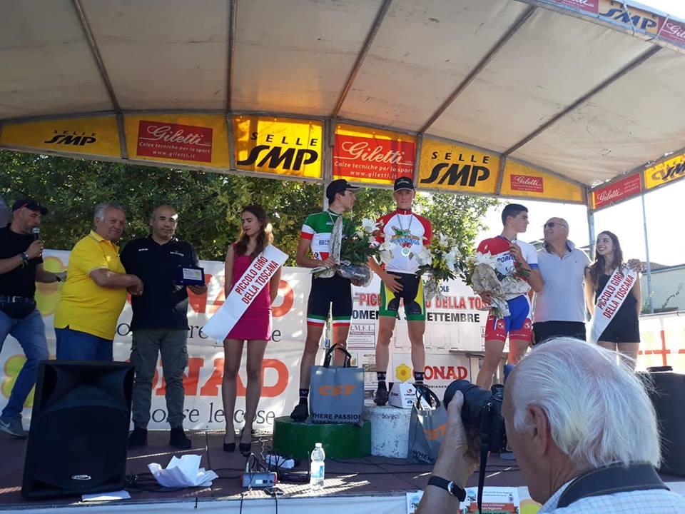 Il podio del Piccolo Giro della Toscana