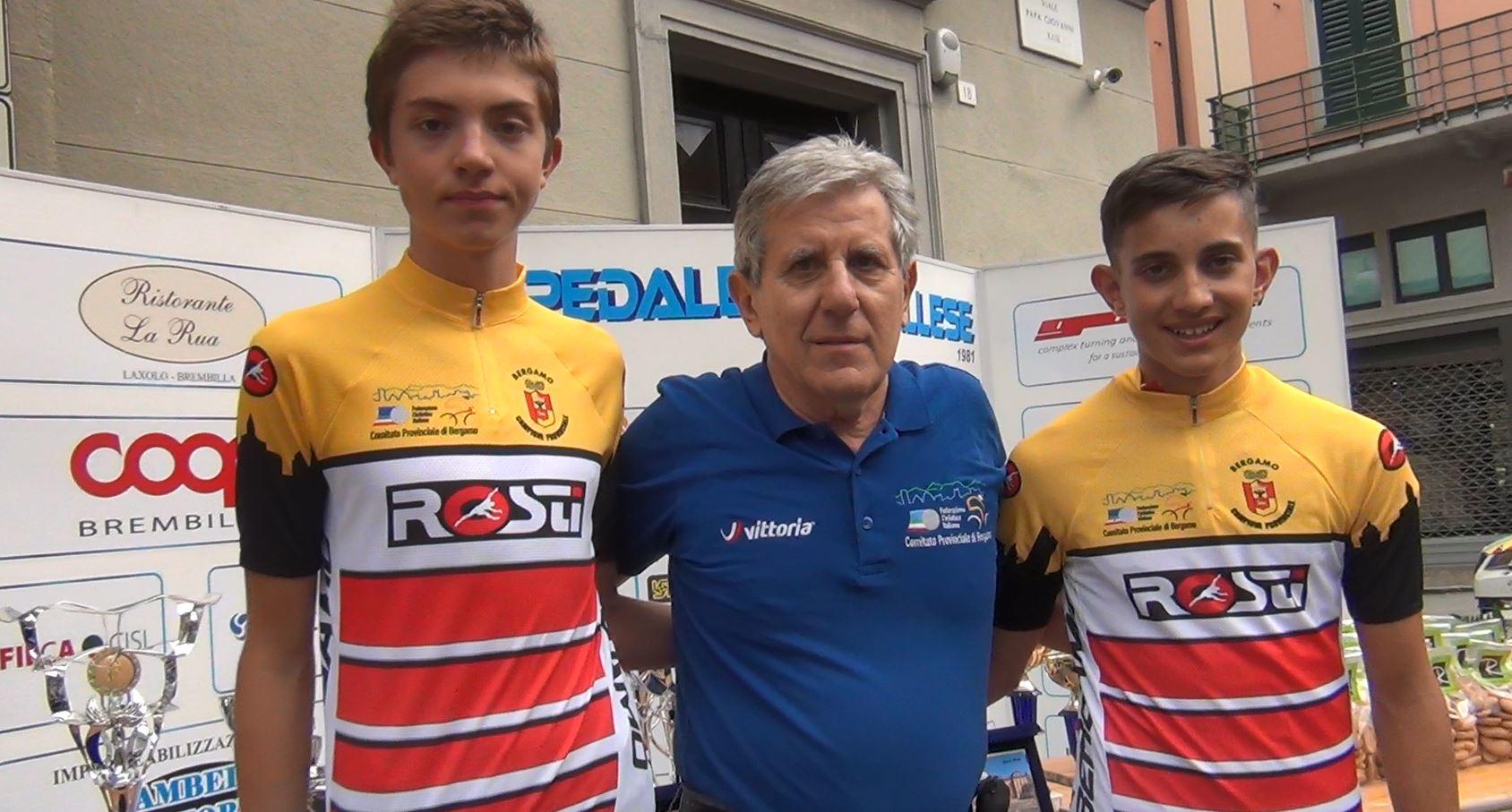 Nicolò Arrighetti e Simone Gualdi campioni bergamaschi a cronometro degli Esordienti