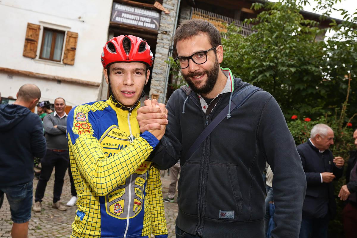 Damiano Valerio, vincitore di La CronoBleggio 2018 con Angelo Zambotti