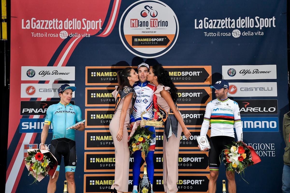 Il podio della Milano-Torino 2018