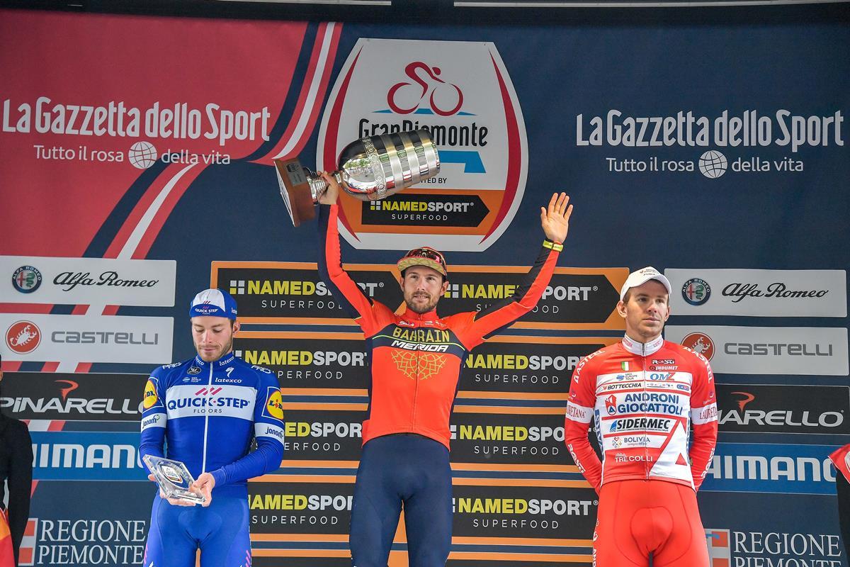 Il podio del Gran Piemonte 2018