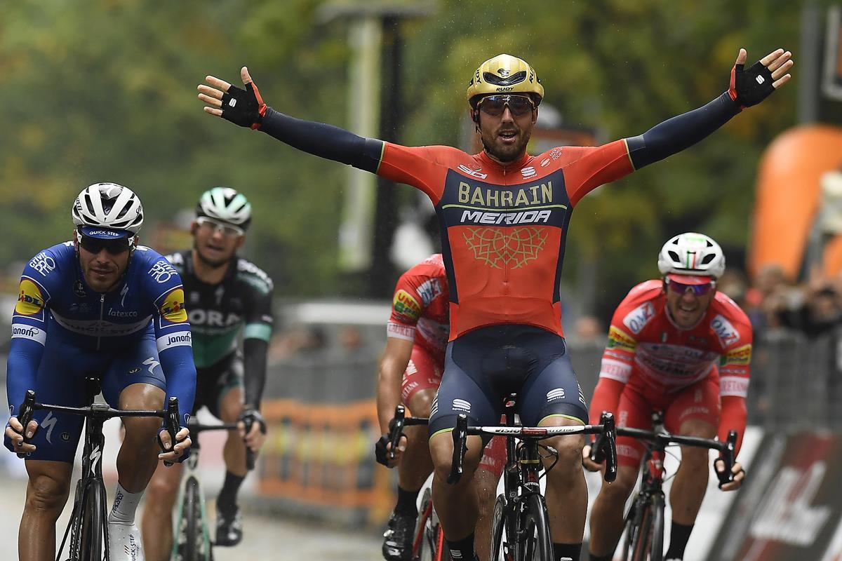 Sonny Colbrelli vince la 102esima edizione del Gran Piemonte (foto LaPresse - Ferrari / Alpozzi).
