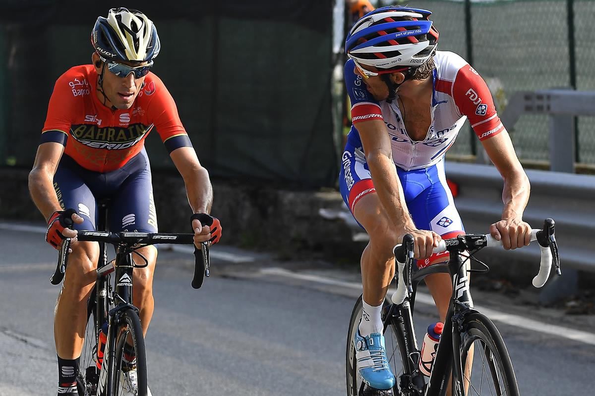 Pinot e Vincenzo Nibali a Il lombardia 2018
