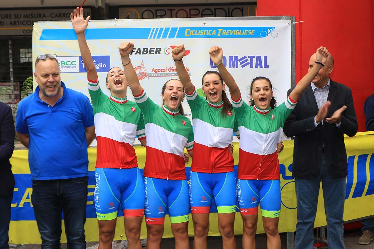Le ragazze della Rodman Pink Power by Nonese vincono il Campionato Italiano cronometro a squadre Donne Allieve 2018