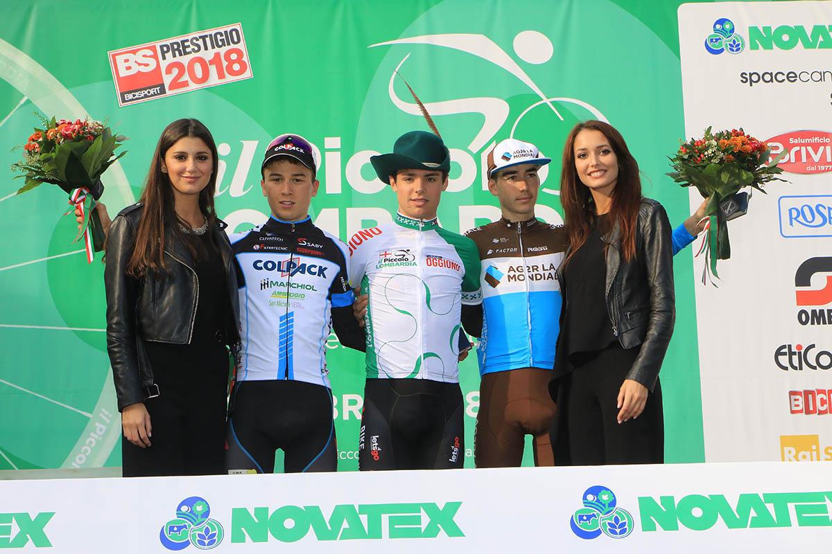Il podio del Piccolo Giro di Lombardia 2018