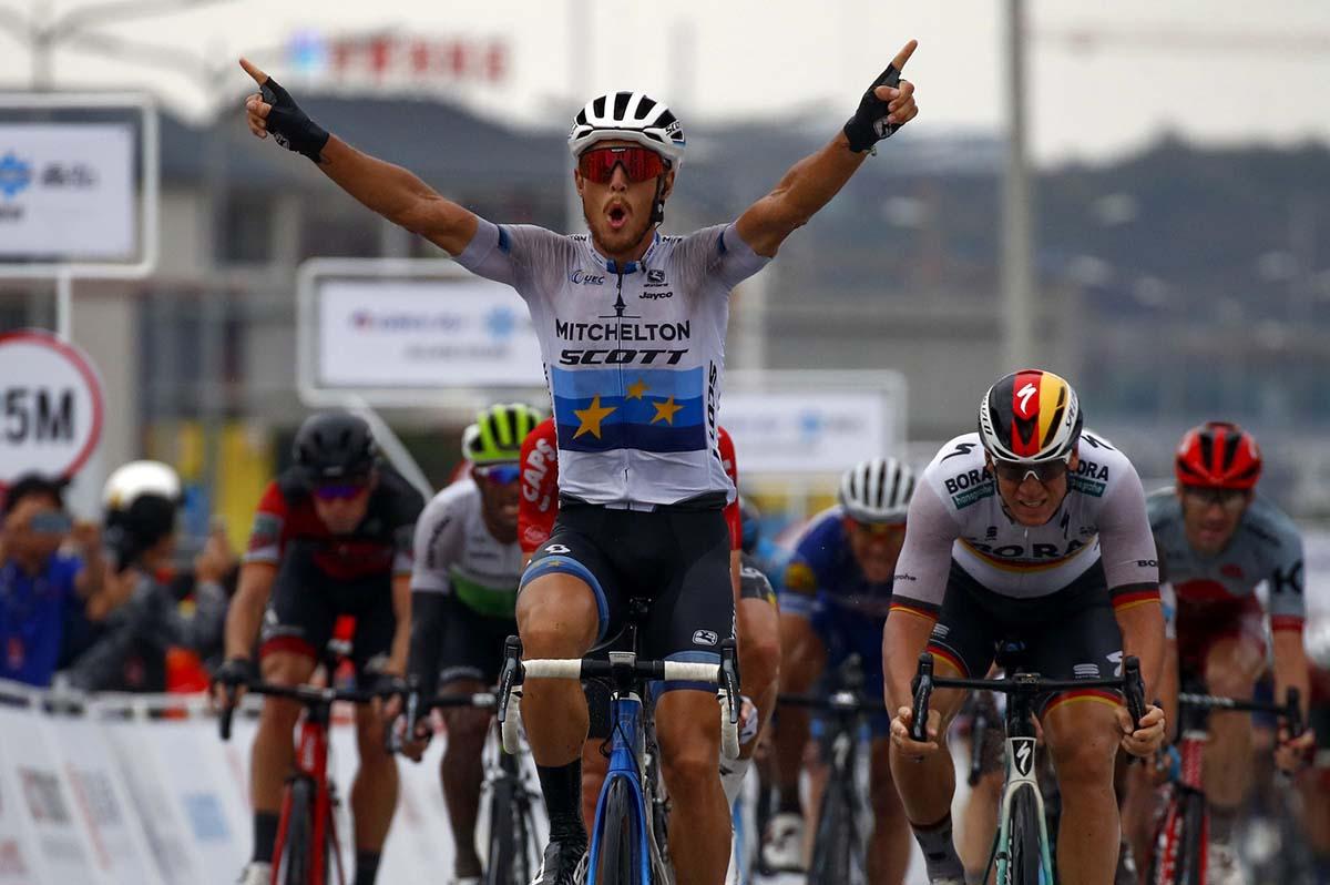 Matteo Trentin vincitore della quinta tappa del Tour of Guangxi