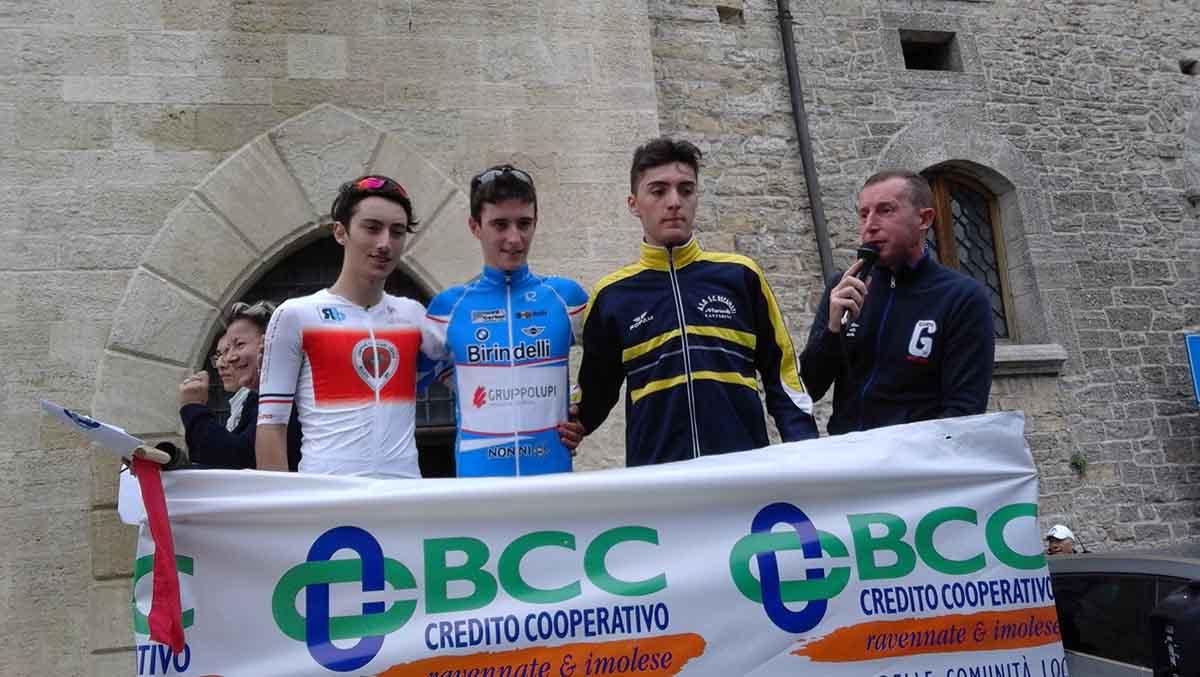 Il podio della Lugo - San Marino 2018