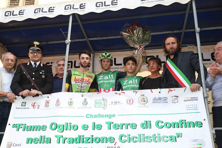 Il podio del 2° Trofeo Comune di Marcaria vinto da Giovanni Lonardi