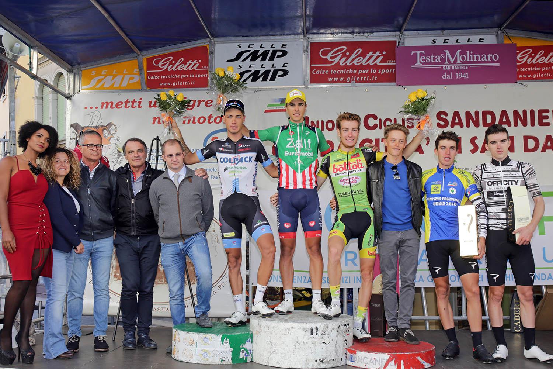 Il podio dell'81/a Coppa San Daniele