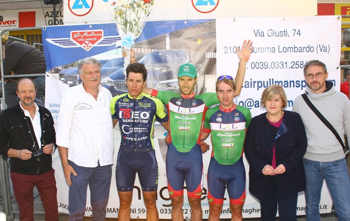 Il podio del 62° Gran Premio Somma