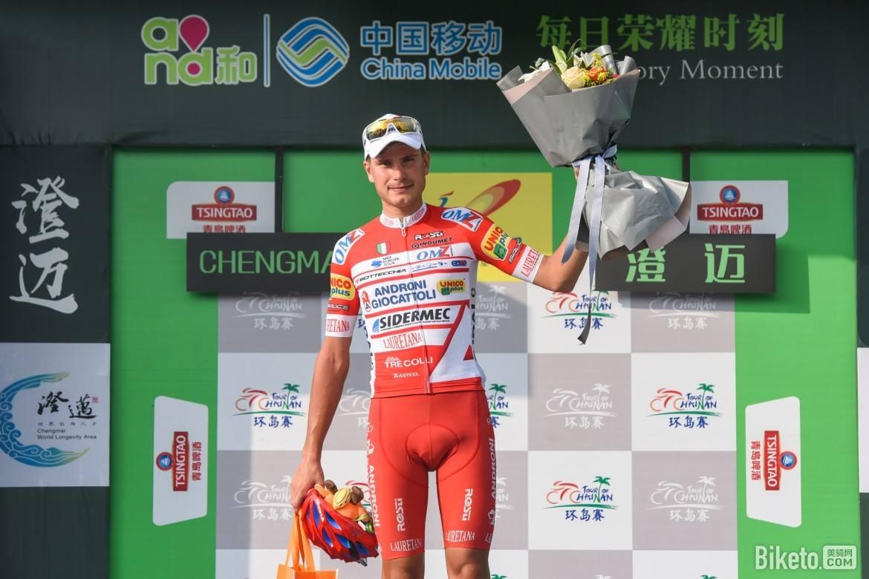 Fausto Masnada vincitore dell'ottava tappa del Tour of Hainan
