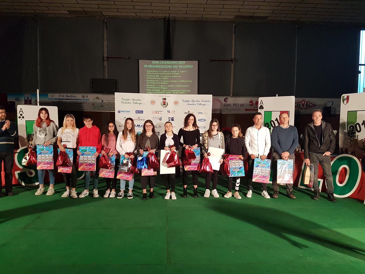 Il gruppo Donne Esordienti e Allieve del Gsc Villongo 2019