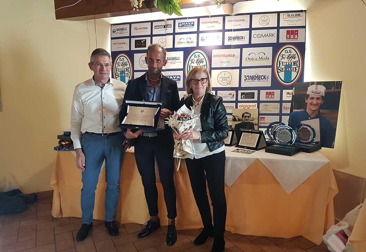 La premiazione del direttore sportivo del Team Giorgi Leone Malaga