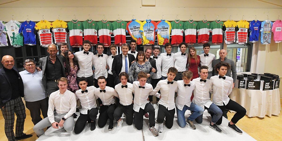 La squadra Juniores del Team Giorgi 2019