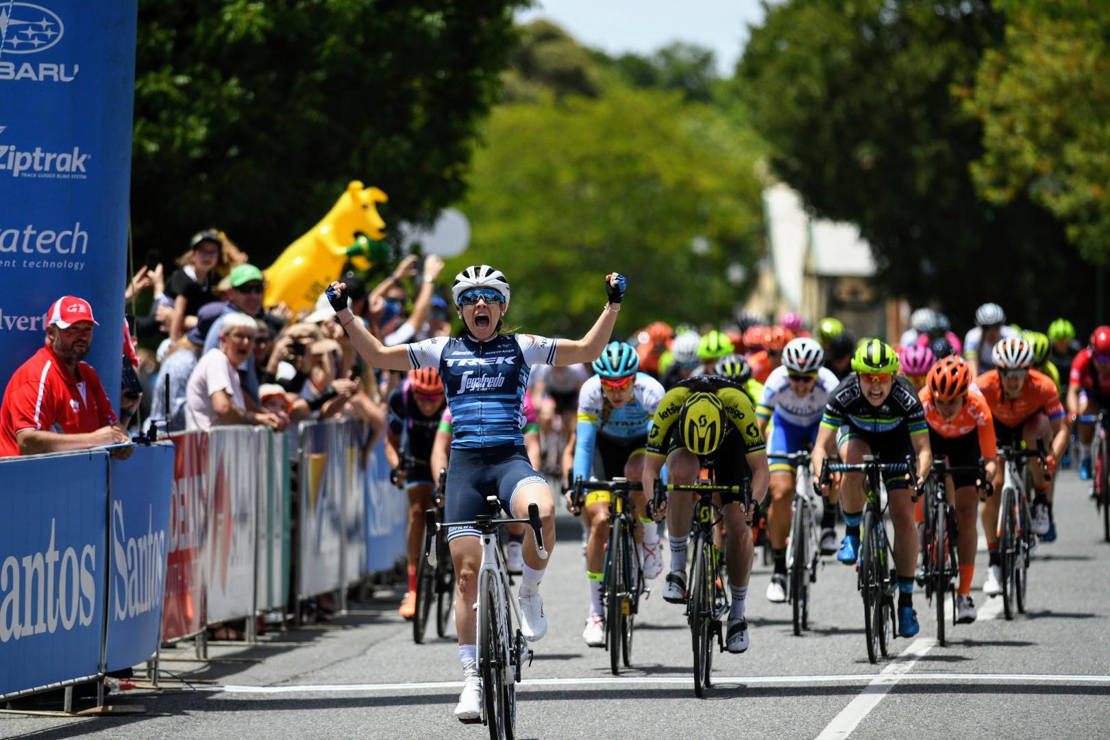 Letizia Paternoster vince la prima tappa del Santos Women's Tour 2019