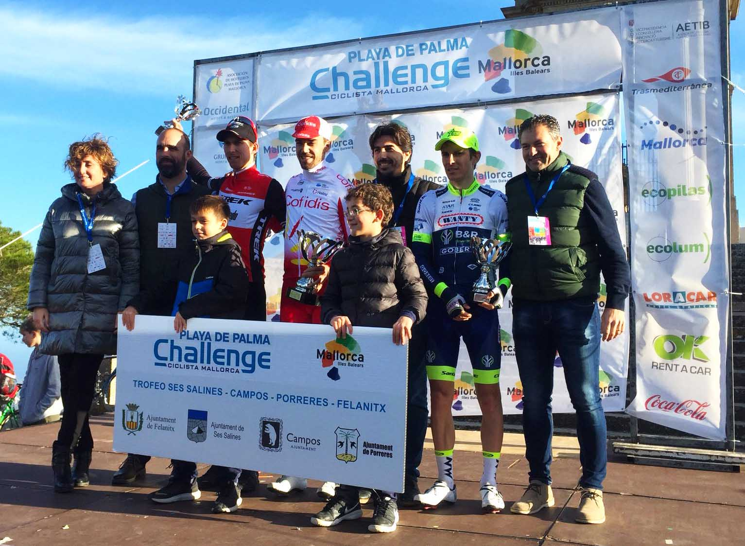Il podio del Trofeo Ses Salines, Campos, Porreres, Felanitx