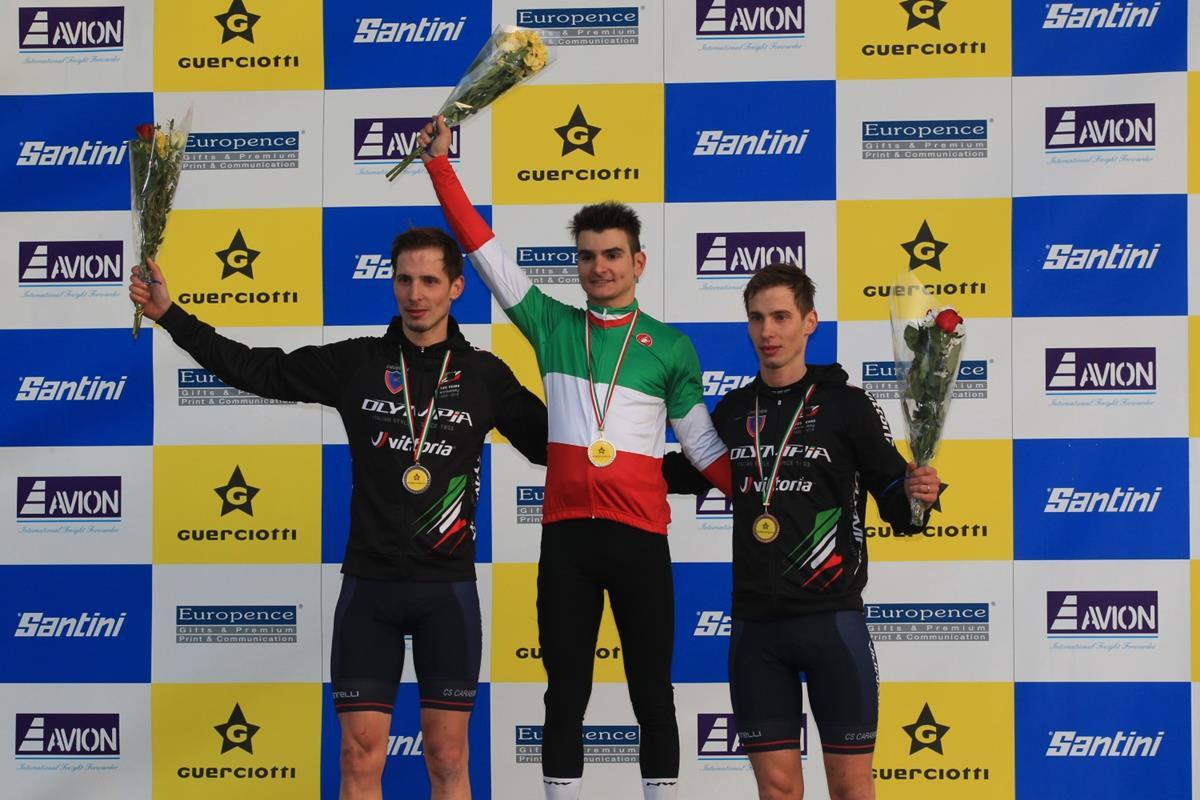 Il podio del Campionato Italiano Ciclocross Elite