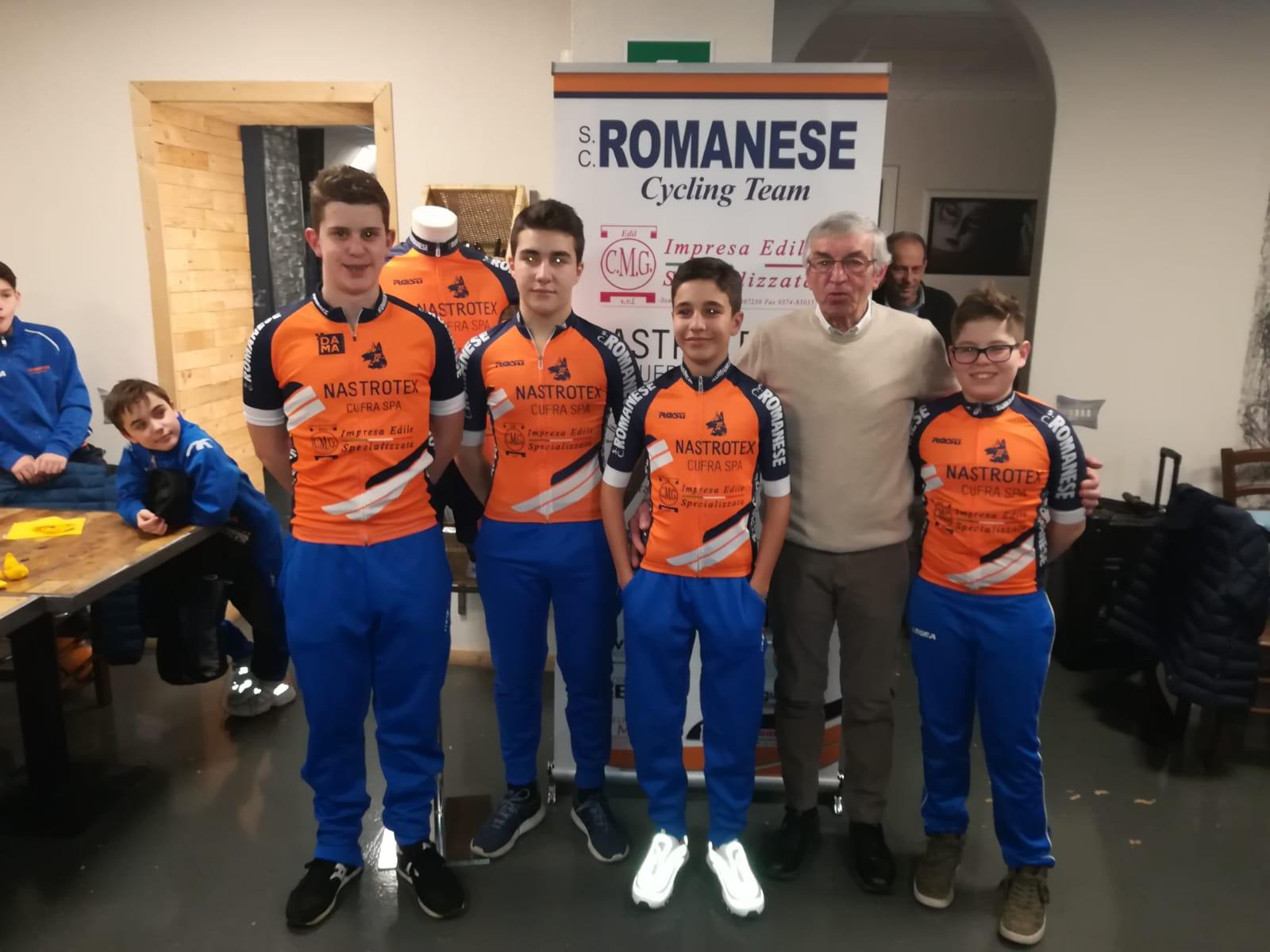 Il gruppo Esordienti 2019 della Sc Romanese