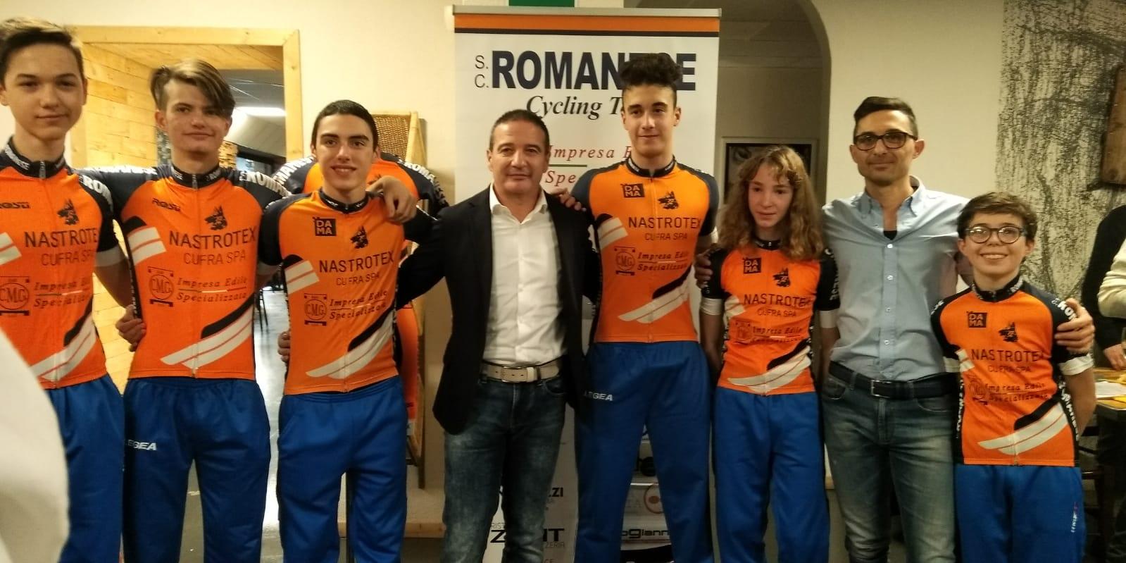Il gruppo Allievi 2019 della Sc Romanese