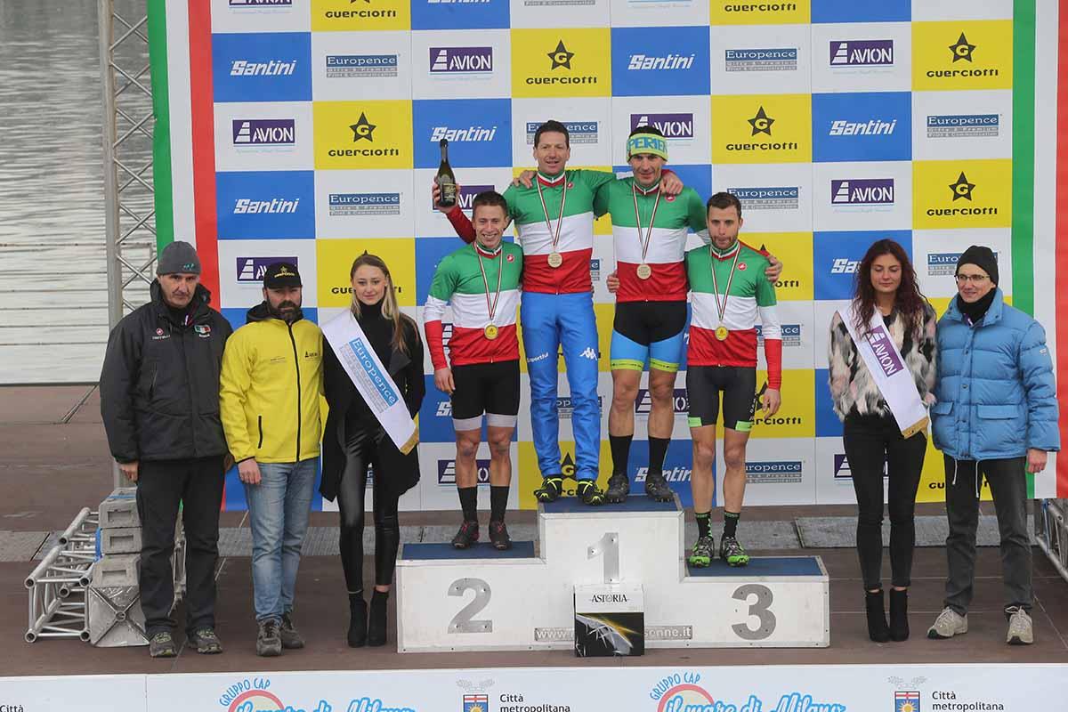 Il podio dei Campionati Italiani Ciclocross 2019 Master fascia 1