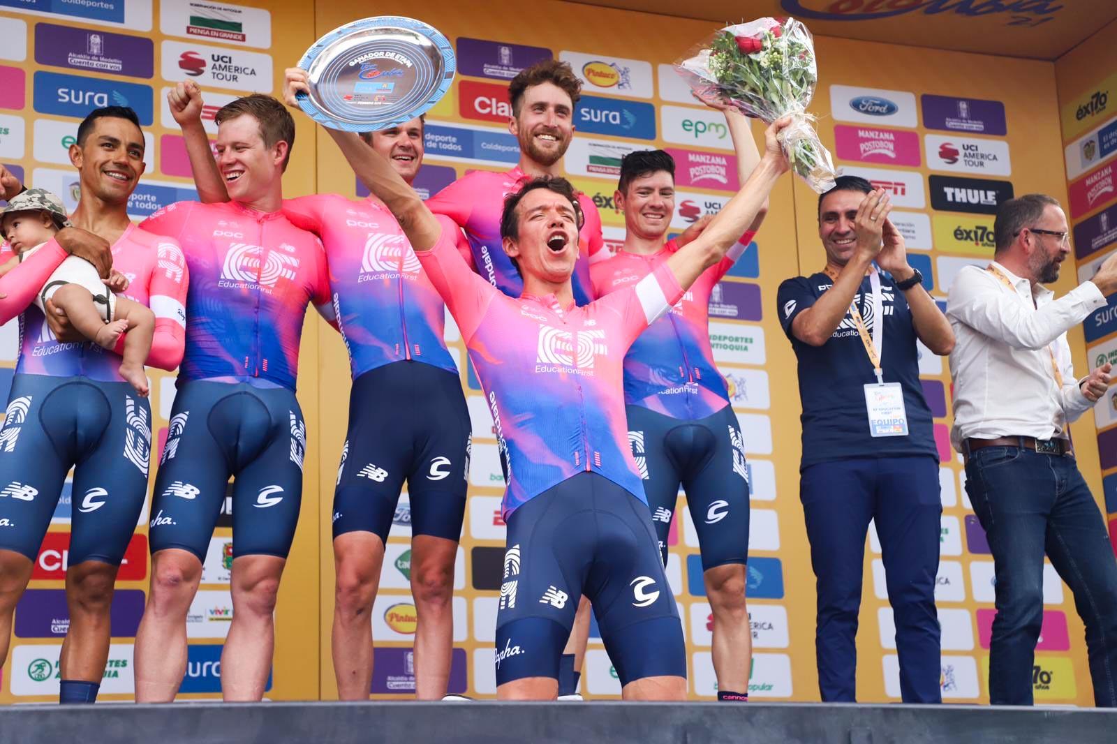 La EF Education First di Rigoberto Uran vince la cronosquadre, prima tappa del Tour Colombia 2019
