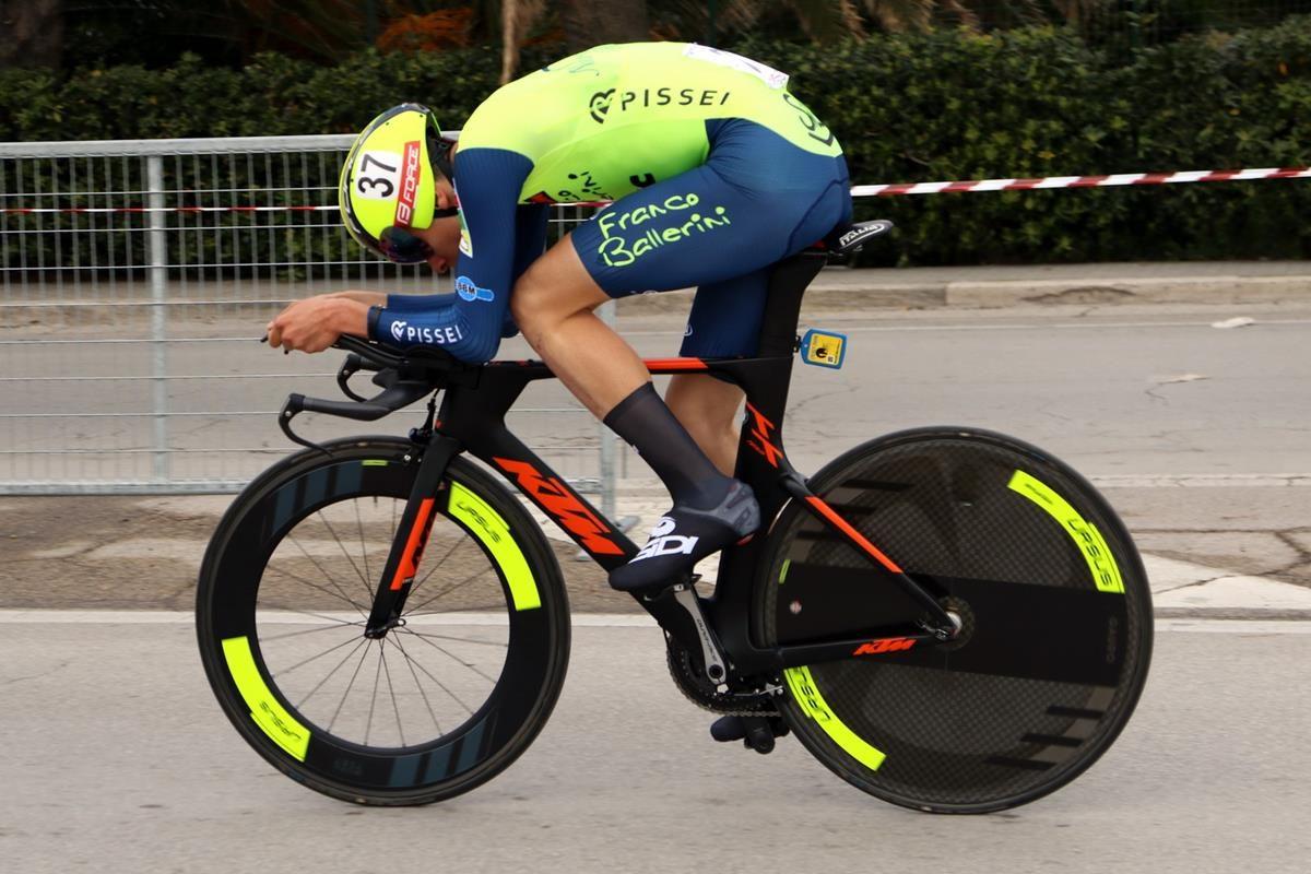 Antonio Tiberi in azione, secondo classificato (foto Photobicicailtto)