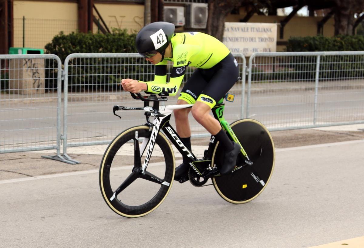 Gianmarco Garofoli in azione, terzo classificato (foto Photobicicailtto)