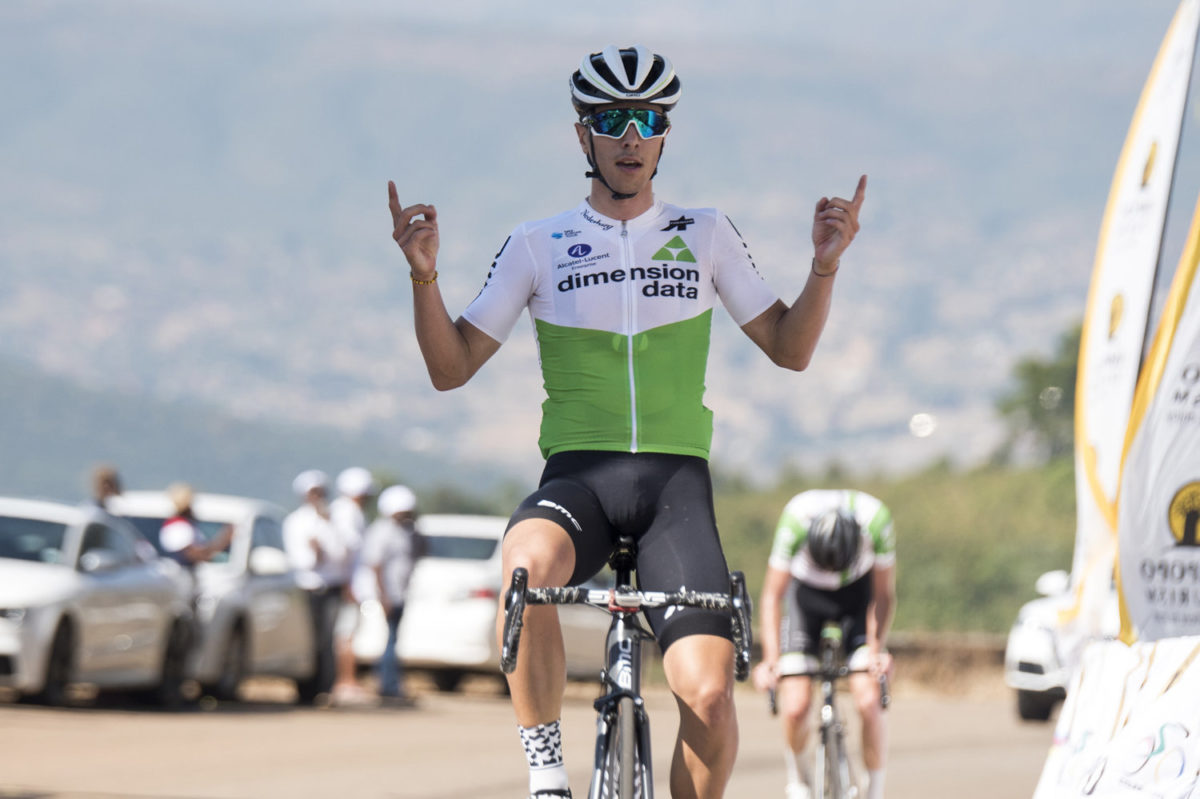 Samuele Battistella vince la seconda tappa del Tour de Limpopo (foto Tour de Limpopo/Andrew Mc Fadden)