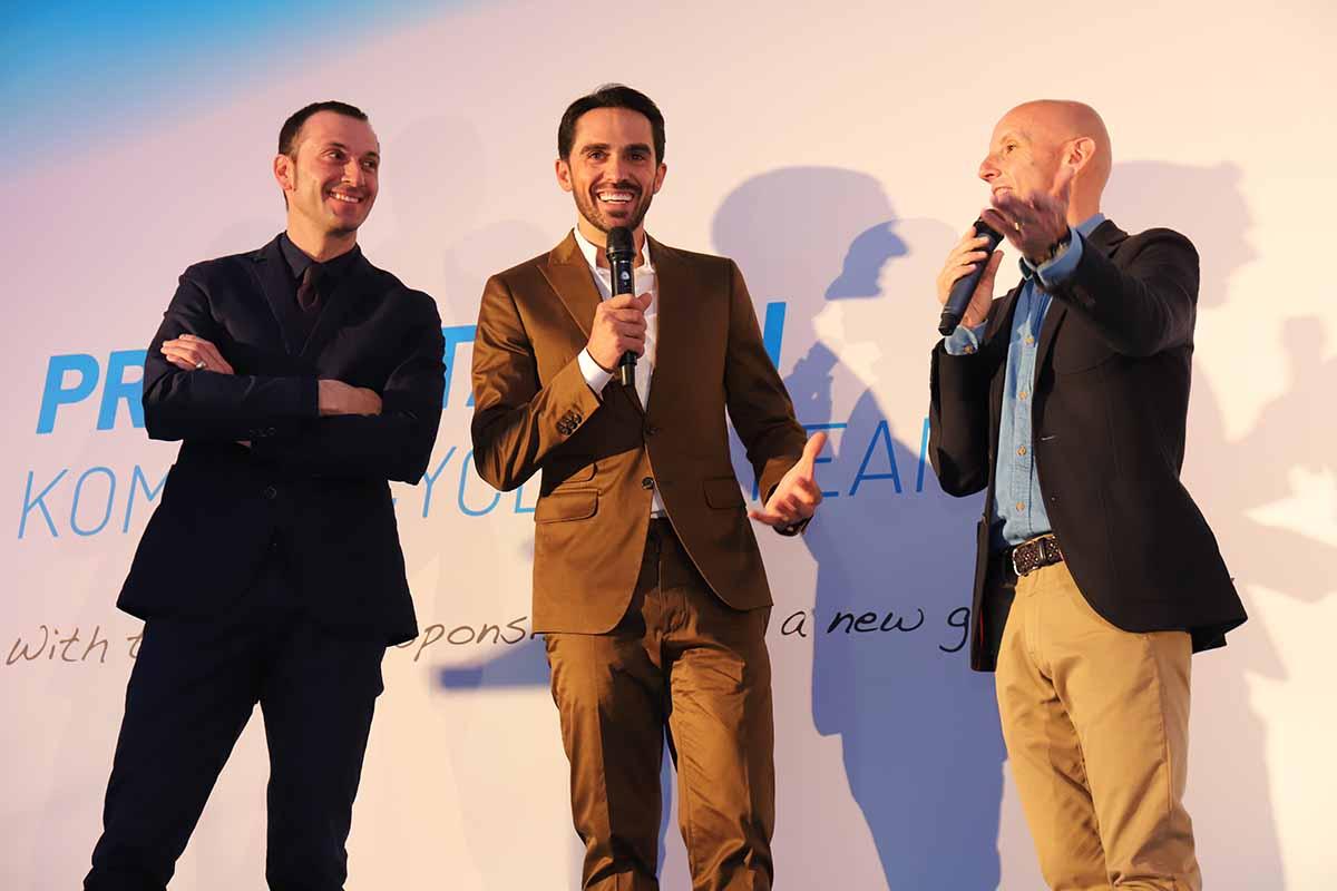 Alberto Contador ed Ivan Basso presentano le squadre di Kometa Cycling Team 2019