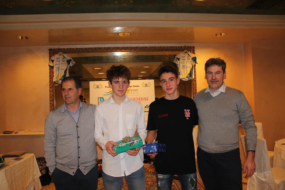 Alex Bono e Nicholas Borsarini premiati dalla Progetto Ciclismo -Rodengo Saiano
