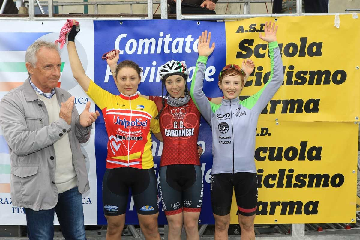 Il podio Donne Esordienti 2° anno di Bianconese (foto Fabiano Ghilardi)